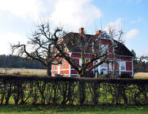 House in Sweden. Look at a traditional house in the Swedish countryside Royalty Free Stock Image