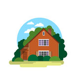 House. Sweet home. Illustration in a flat style Stock Photo