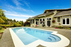 House with swimming pool. Real estate in Federal Way, Royalty Free Stock Images