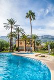 House with swimming pool, view outdoor Stock Photography