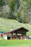 House in Swiss Alps Stock Photos