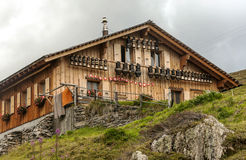 House in the swiss Alps Stock Image