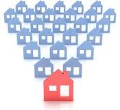House symbol. 3d model house symbol set vector illustration