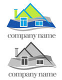 House symbol. Color and monochrome versions of house symbol Royalty Free Stock Photography