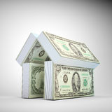 House symbol build out of money stock illustration