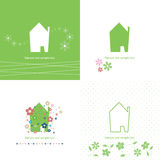 House symbol collection - green / ecology Stock Photo