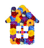 House symbol from flowers Stock Photography
