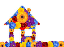 House symbol from flowers Royalty Free Stock Photography