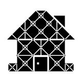 House symbol with framed facade Stock Photography