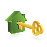 House symbol and key Royalty Free Stock Photo