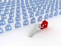 House symbol and key Stock Photo