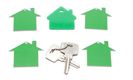 House symbol and key Royalty Free Stock Image