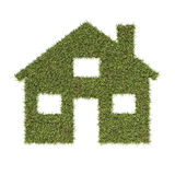 House symbol made from grass. Stock Photos