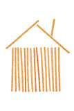 House symbol made from salted breadsticks Royalty Free Stock Images