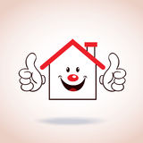 House symbol mascot cartoon character Stock Images