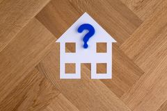House symbol with question mark stock images