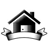 House symbol with ribbon Stock Images