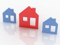 House symbol set. 3d model house symbol set royalty free illustration