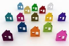 House symbol set. 3d model house symbol set stock illustration