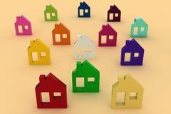 House symbol set. 3d model house symbol set vector illustration