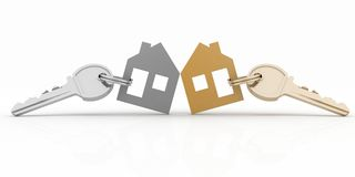 House symbol set with keys Stock Image