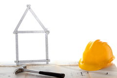 House symbol with tools Stock Images