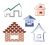 House symbols Royalty Free Stock Photography
