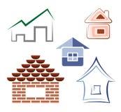 House symbols Royalty Free Stock Photography