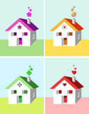 House and symbols vector illustration