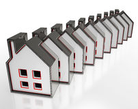 House Symbols Displaying Houses For Sale Stock Images