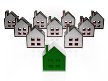 House Symbols Meaning Real Estate For Sale Stock Photo