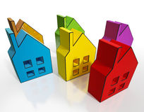House Symbols Means Houses For Sale Royalty Free Stock Photos