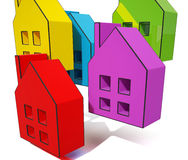 House Symbols Shows Houses For Sale Stock Image