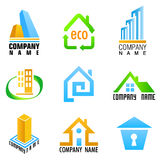 House symbols vector. Set of house symbols vector Stock Images
