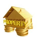house symbolsinvesteringsymbolet Royaltyfri Fotografi