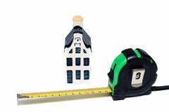 House and tape measure Stock Photography