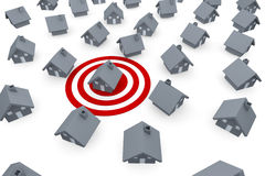 House on target Stock Image