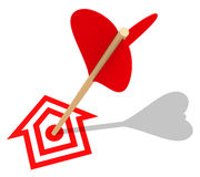 The house target Stock Photography