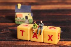 House tax royalty free stock photo