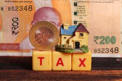 House tax stock photo