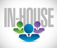 In-house team sign illustration design graphic Royalty Free Stock Image