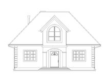 House technical draw Royalty Free Stock Photo