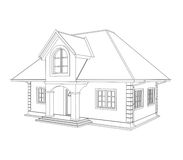 House technical draw Royalty Free Stock Photography
