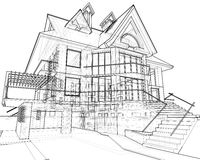 House: technical draw Stock Photography