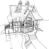 House: technical draw Stock Photo