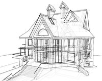 House: technical draw Royalty Free Stock Photos