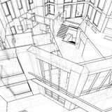 House: technical draw Royalty Free Stock Image