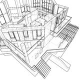 House: technical draw Stock Images