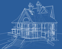 House: technical draw Royalty Free Stock Photo