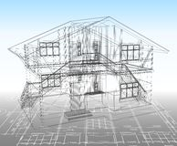 House technical draw. Vector Stock Photography